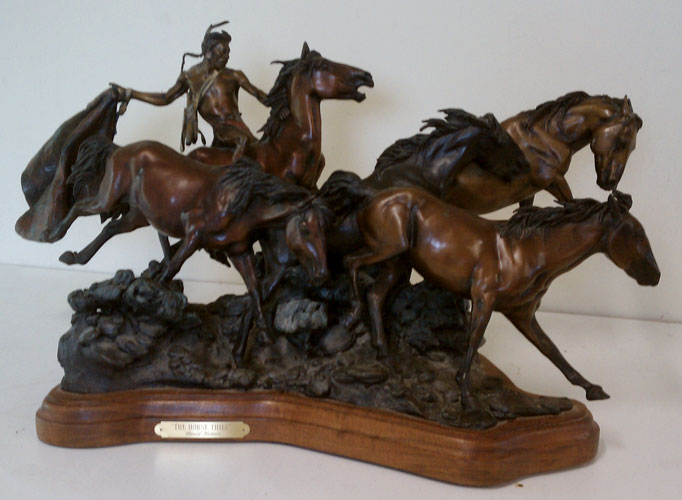 Horse Thief Bronze Sculpture 1991