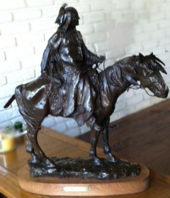Stalking Bear Bronze Sculpture 1972 24 in