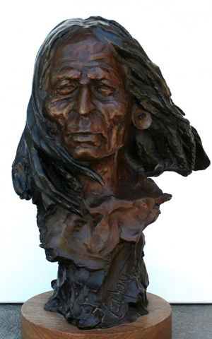 Warrior Bronze Sculpture 14 in