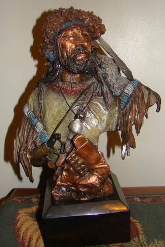 Colter's Escape Bronze Sculpture 1995