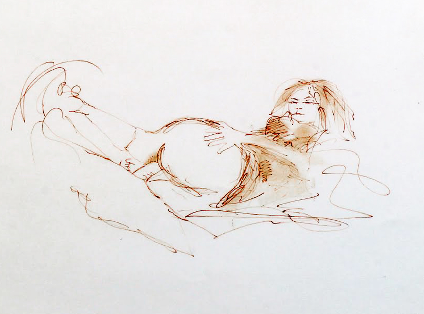 Early erotic sketches drawings