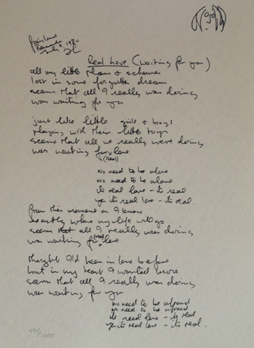 Real Love Lyrics 1995