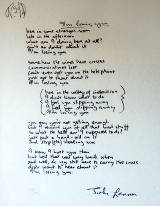 I'm Losing You Lyrics 1995