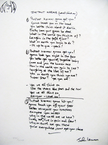 Instant Karma Lyrics 2002