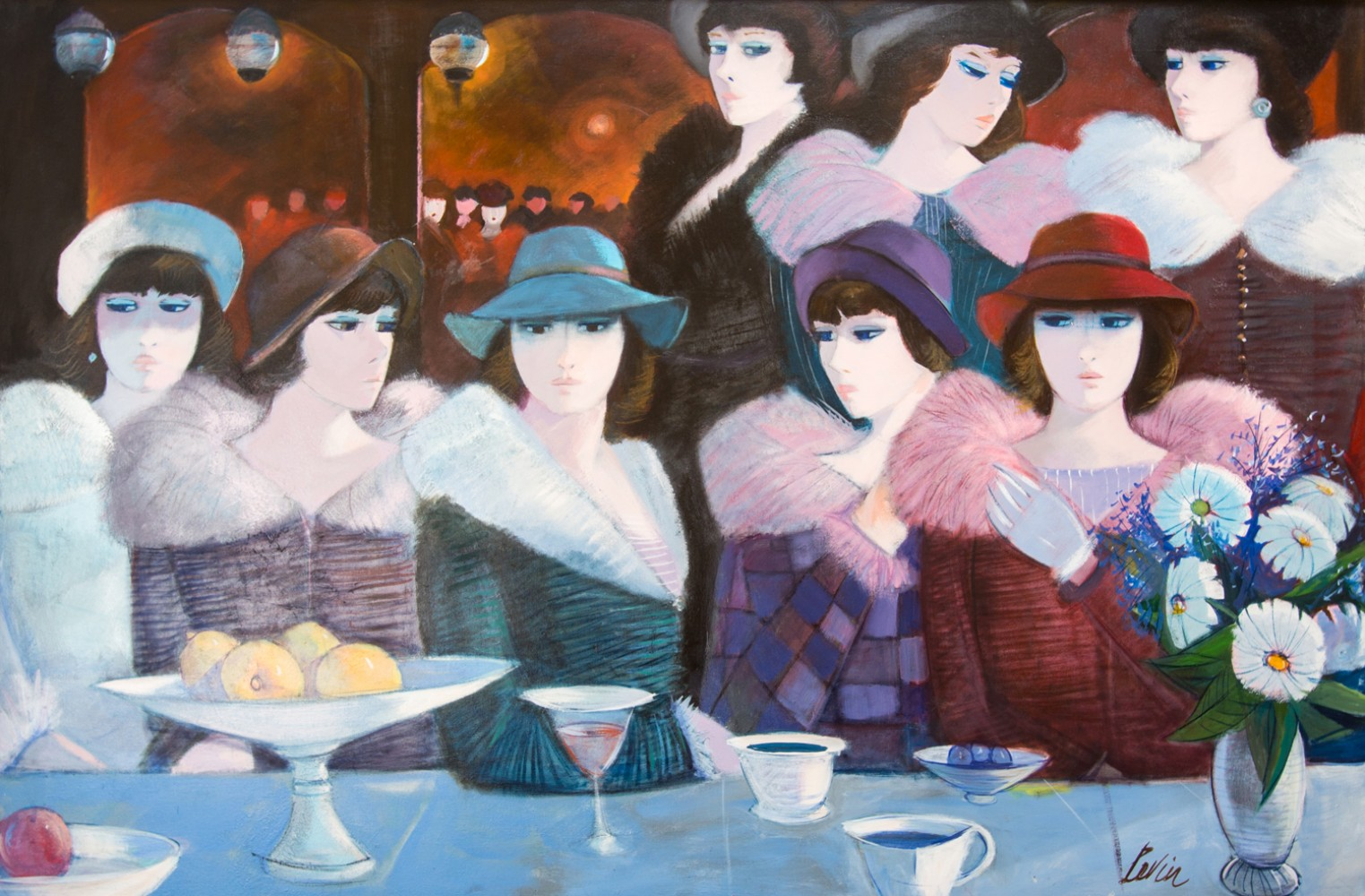 Le Bar 1989 48x68 by Charles Levier
