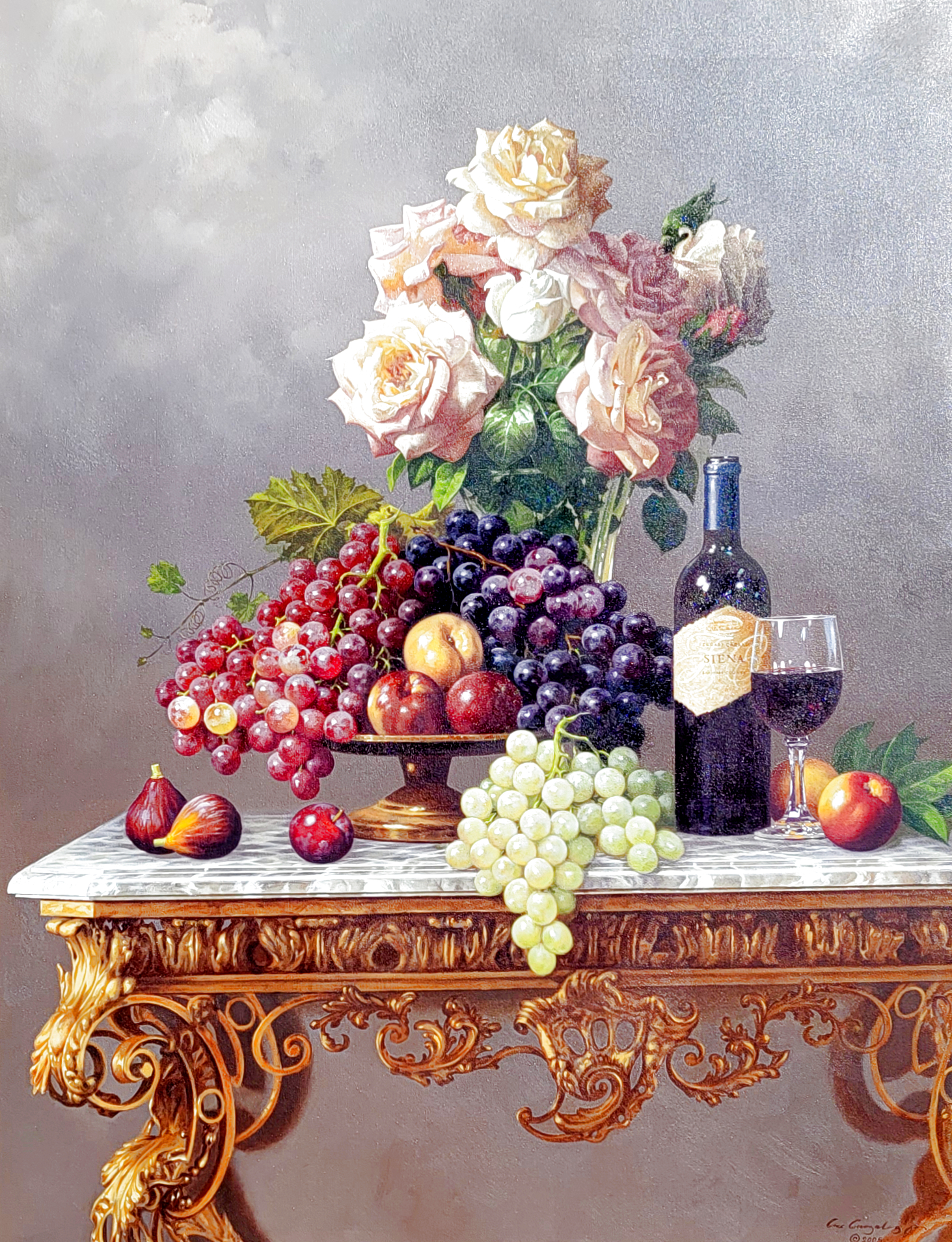Roses and Fruit 41x51