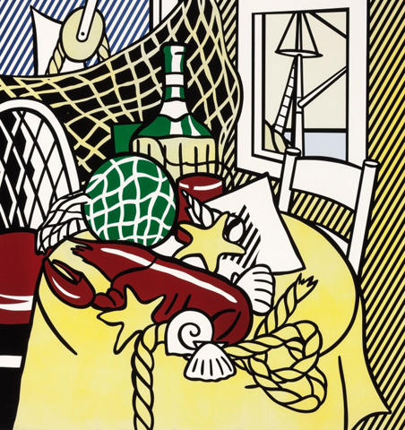 Still Life With Lobster (From the Six Still Lifes Series) 1974 by Roy Lichtenstein