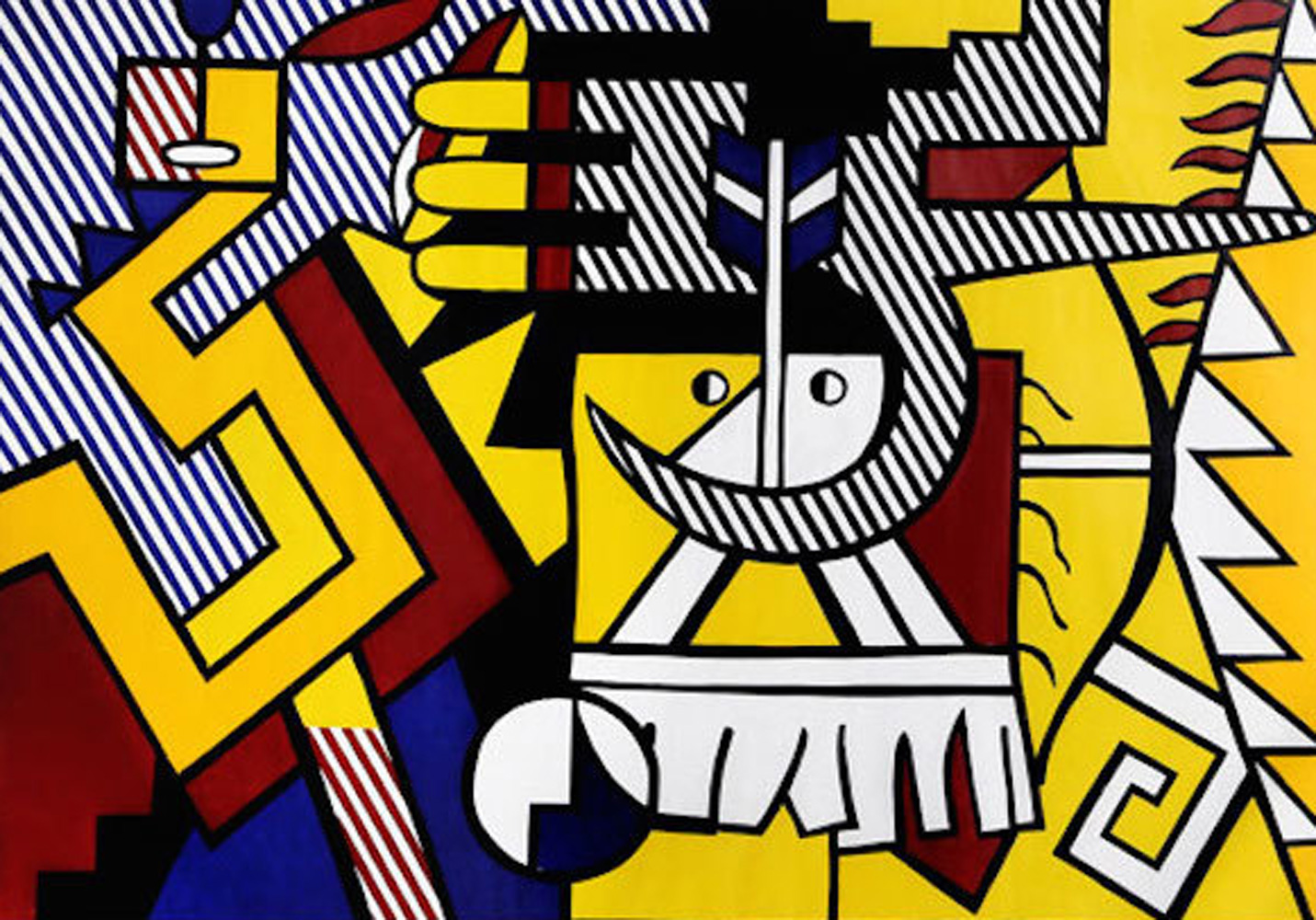 American Indian Theme VI 1980 by Roy Lichtenstein