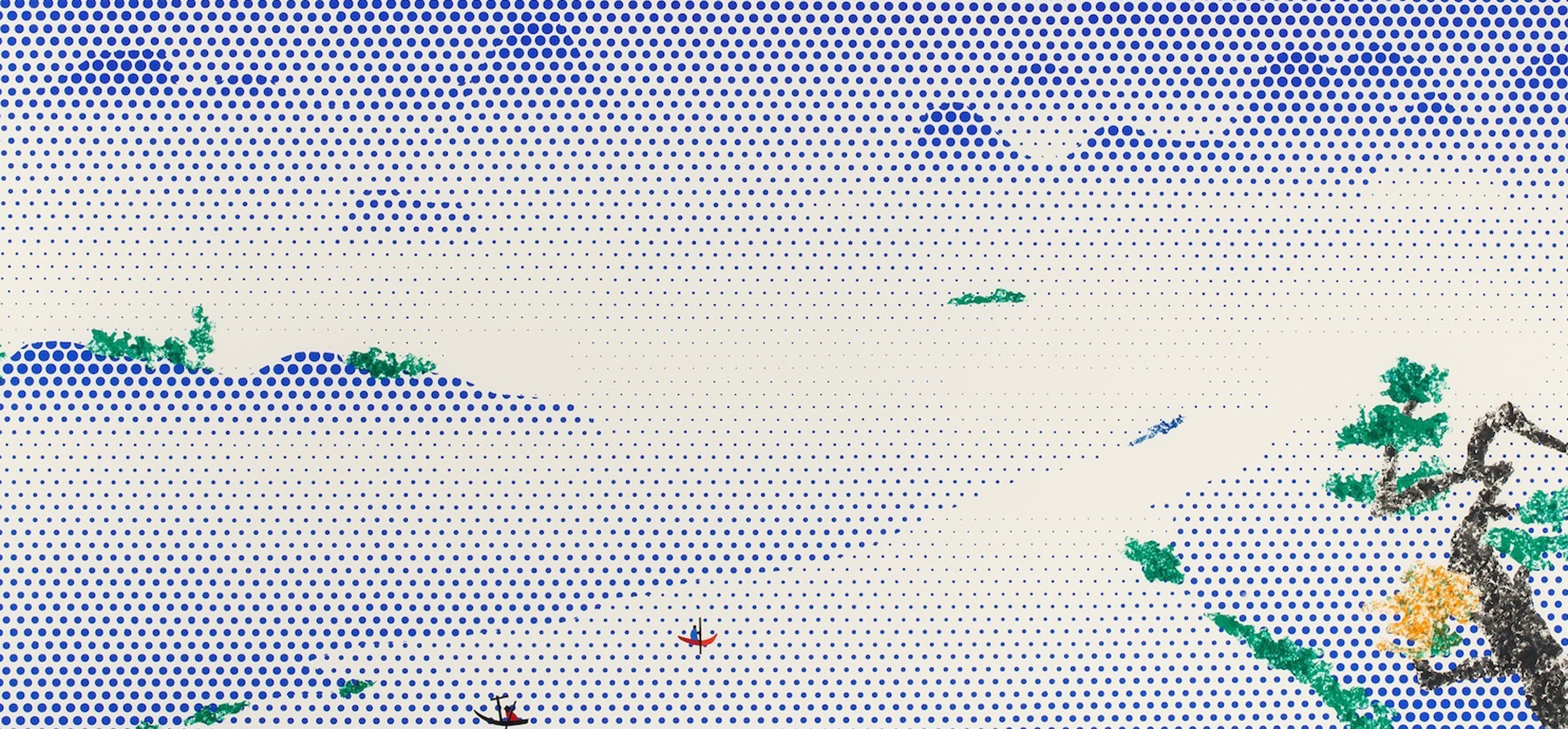 Landscape With Boats 1966 by Roy Lichtenstein