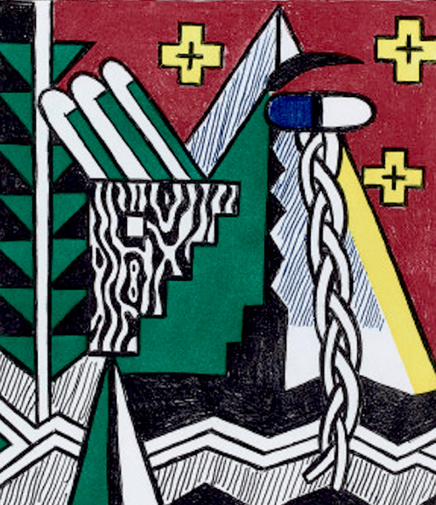 Two Figures With Teepee 1980 by Roy Lichtenstein