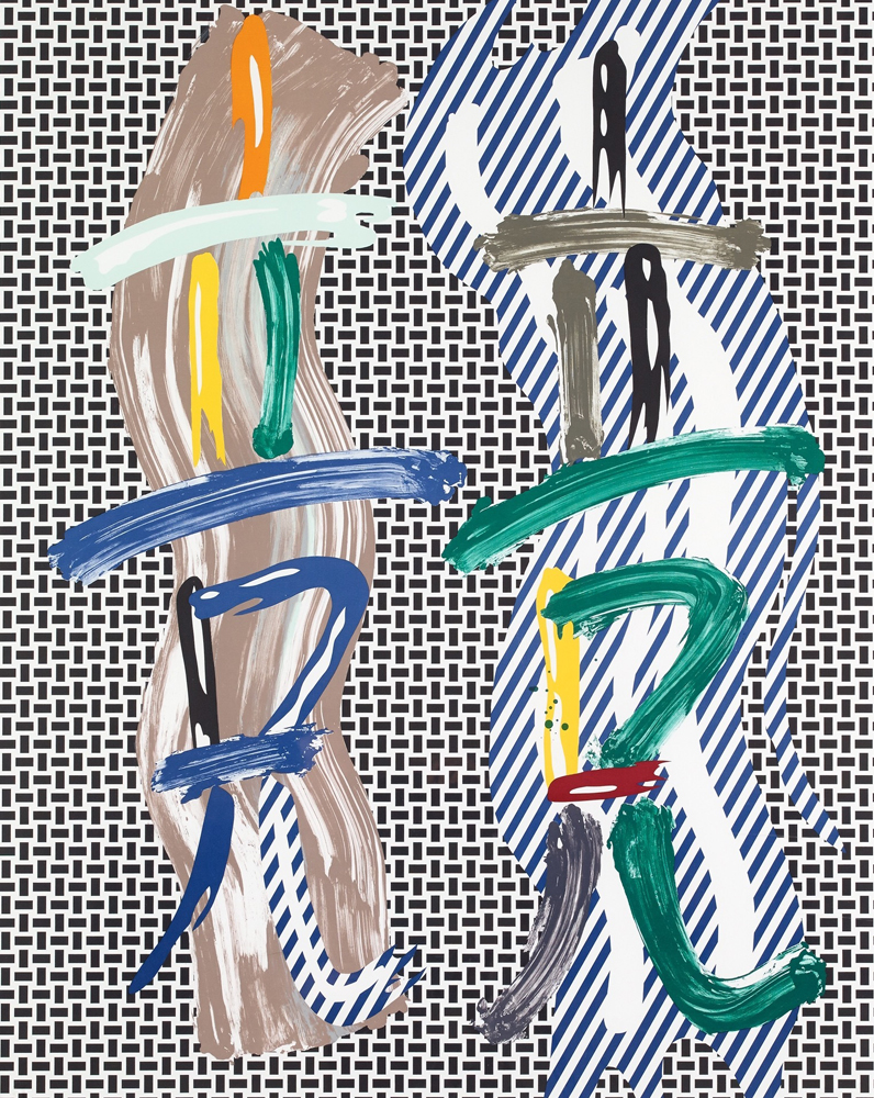 Brushstroke Contest 1989 by Roy Lichtenstein