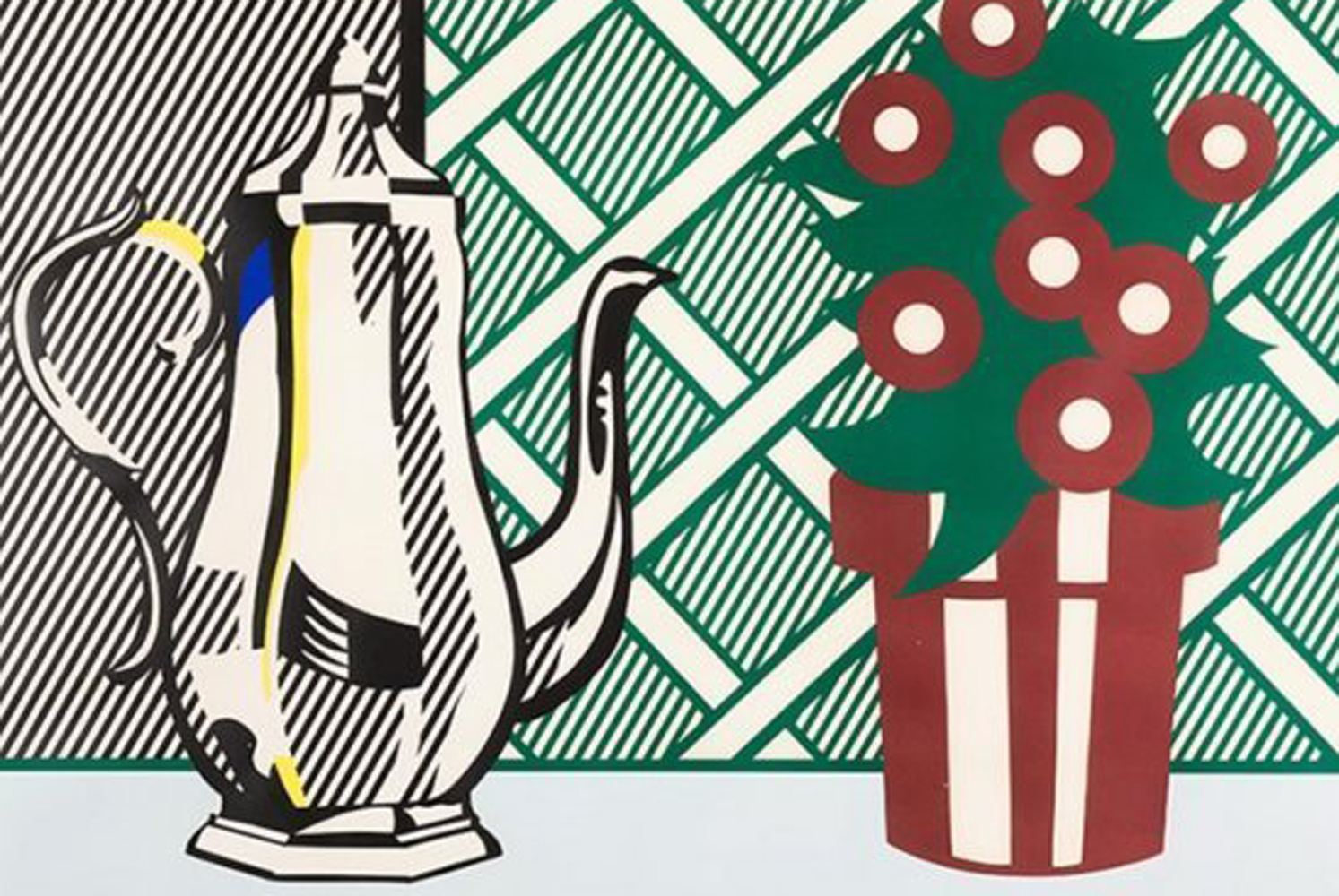 Still Life With Pitcher And Flowers 1974 by Roy Lichtenstein
