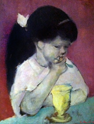 Girl Eating Ice Cream 1960 26x22