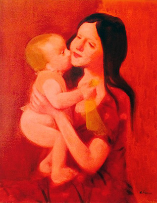 Mother And Child 40x34