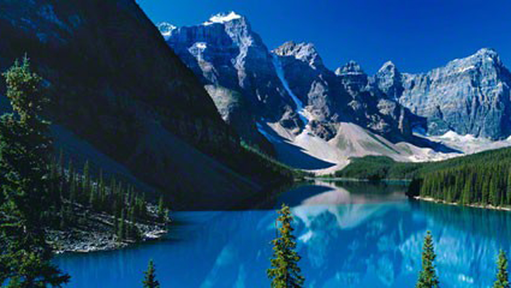 Lake Moraine, Rocky Mountains, Canada 2011
