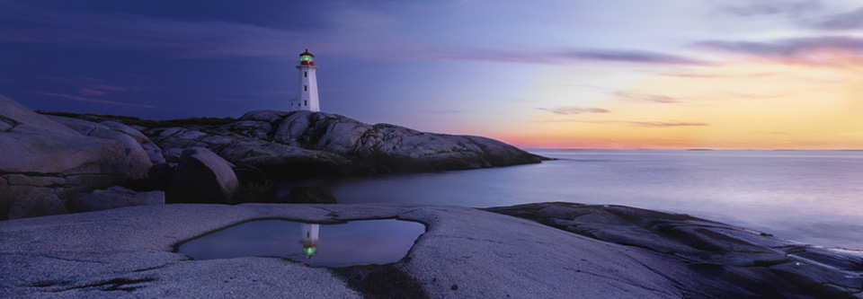 Atlantic Reflection (Peggy's Cove, Nova Scotia  AP