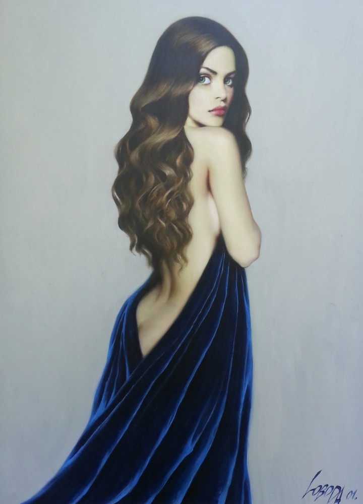 Girl in Blue 2001 53x37