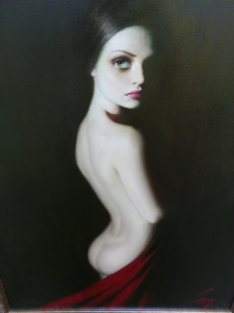 Lady in Red 2004 49x37