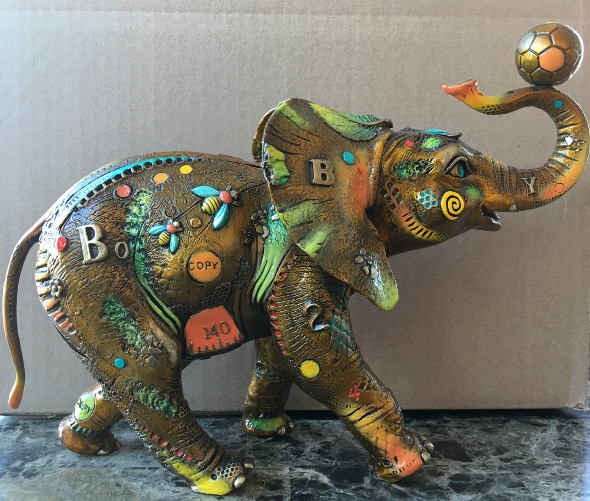 Bobby - Elephant Bronze Sculpture & Suzie Q Bronze Sculpture