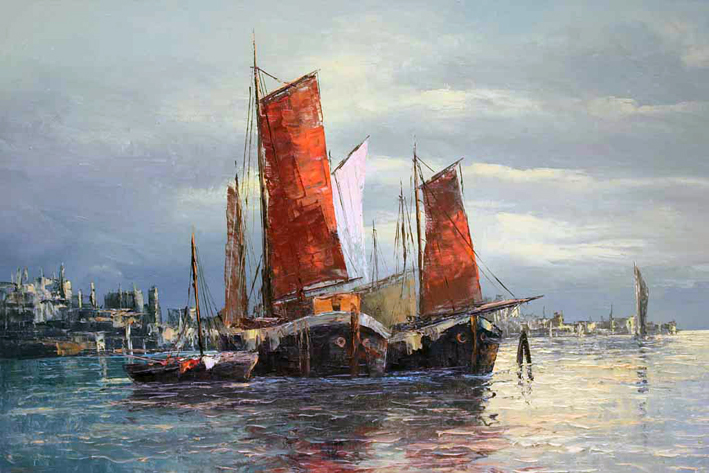 Untitled Asian Harbor 1966 23x31