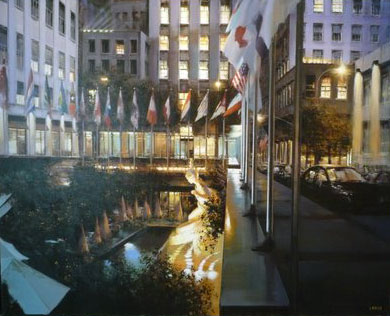 N.Y. Rockefeller Center by Night 2004 59x47