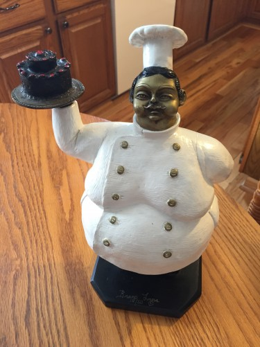 Pastry Chef Bronze Sculpture 13 in
