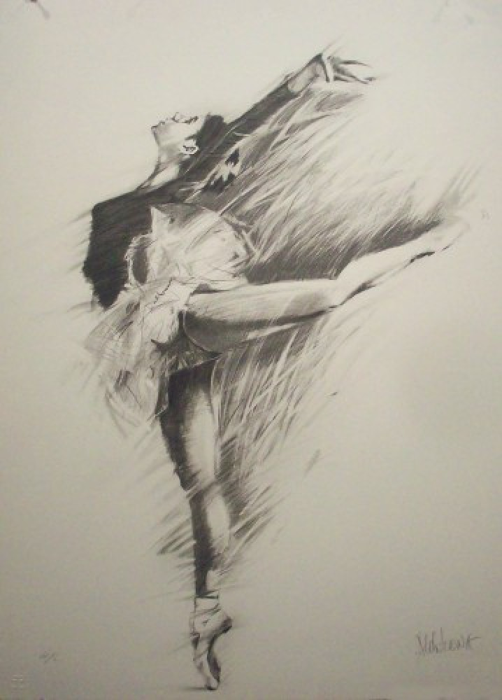 Ballerina Suite of 3 Lithographs