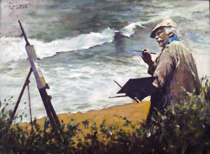 Watercolors in Laguna Beach (The Hawk) 2004 30x40