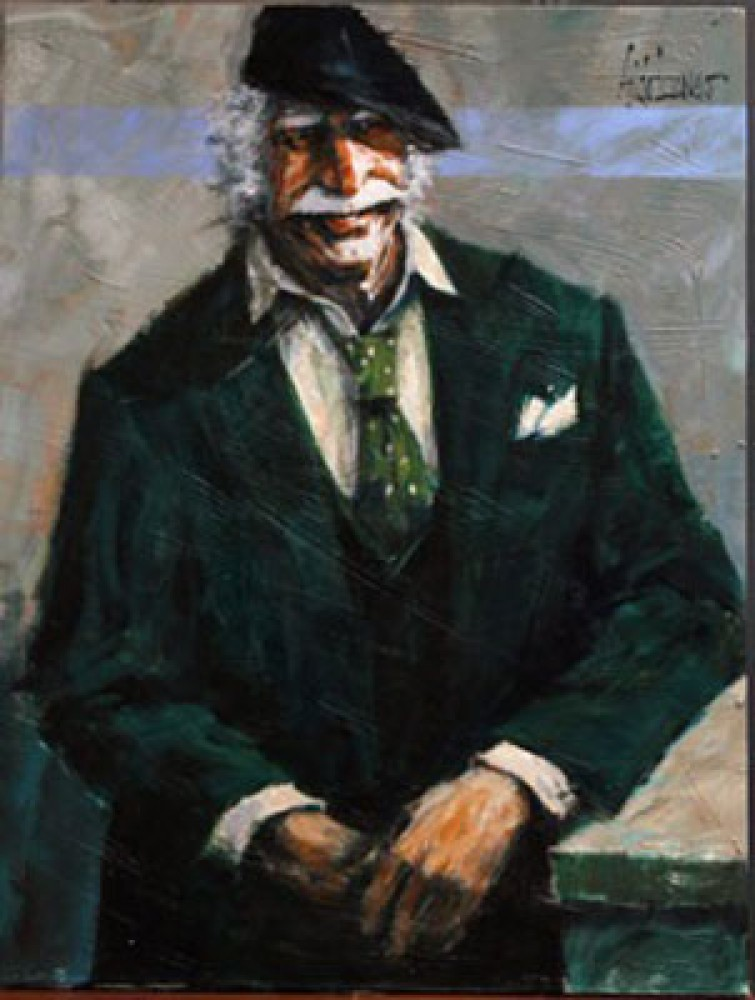 Big Smile and Green Suit (The Hawk) 1980 42x32