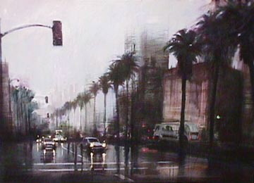 Rainy Day on Wilshire