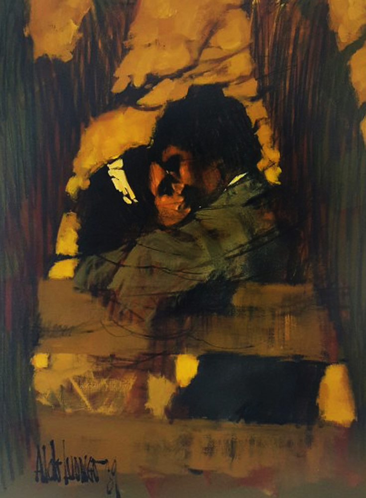 Lovers At the Park 1969 33x43 (Early)