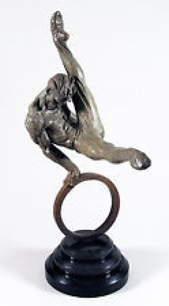 Gymnast 1/3 Life Bronze Sculpture 1995 35 in