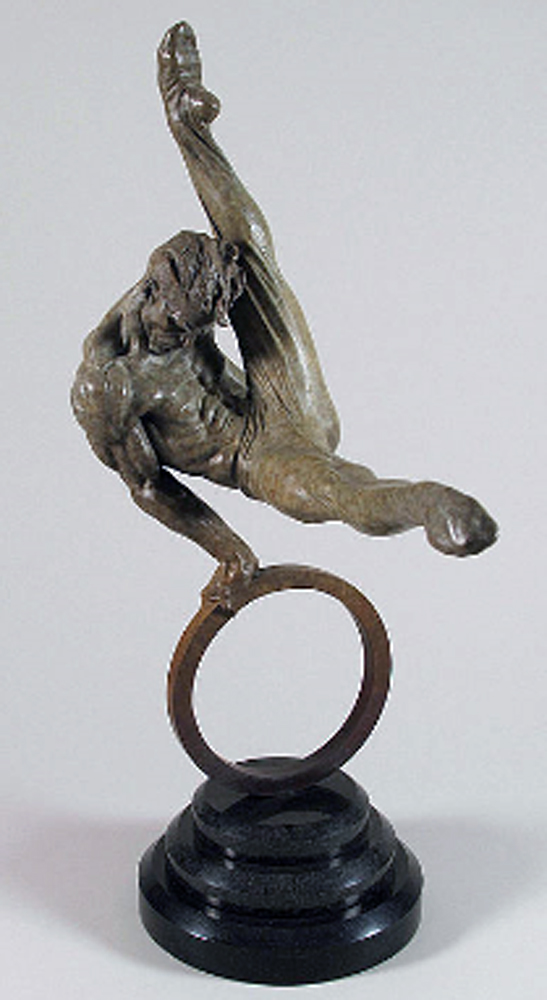 Gymnast Bronze Sculpture 23 in