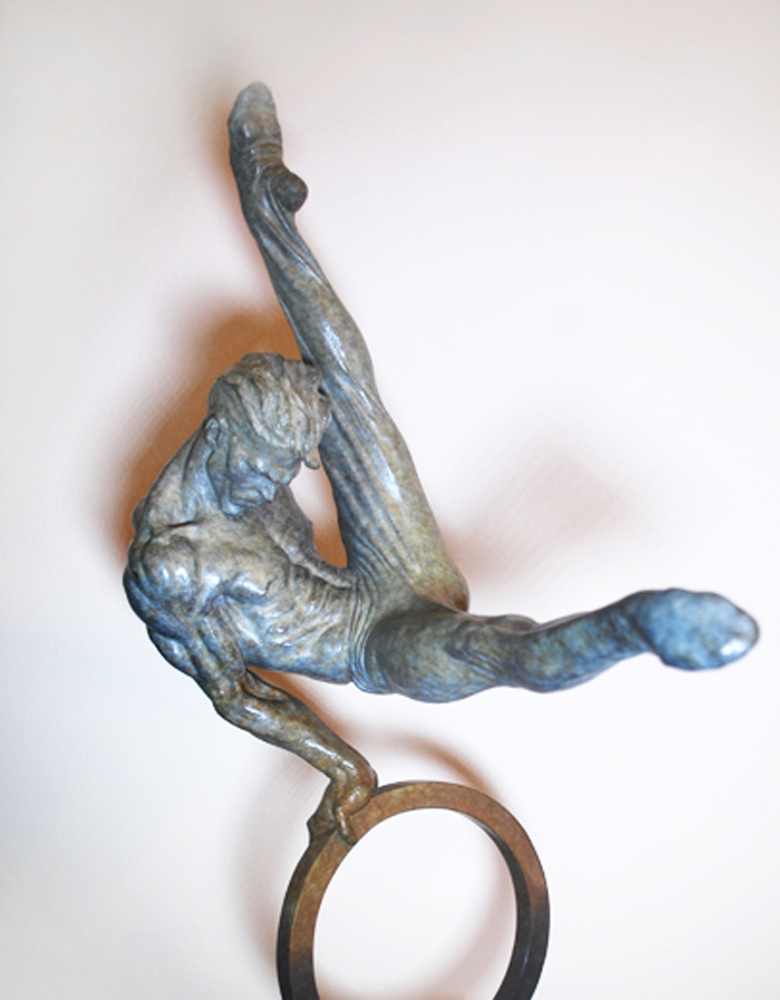 Gymnast 1/8 Lifesize Bronze Sculpture 1995 20 in