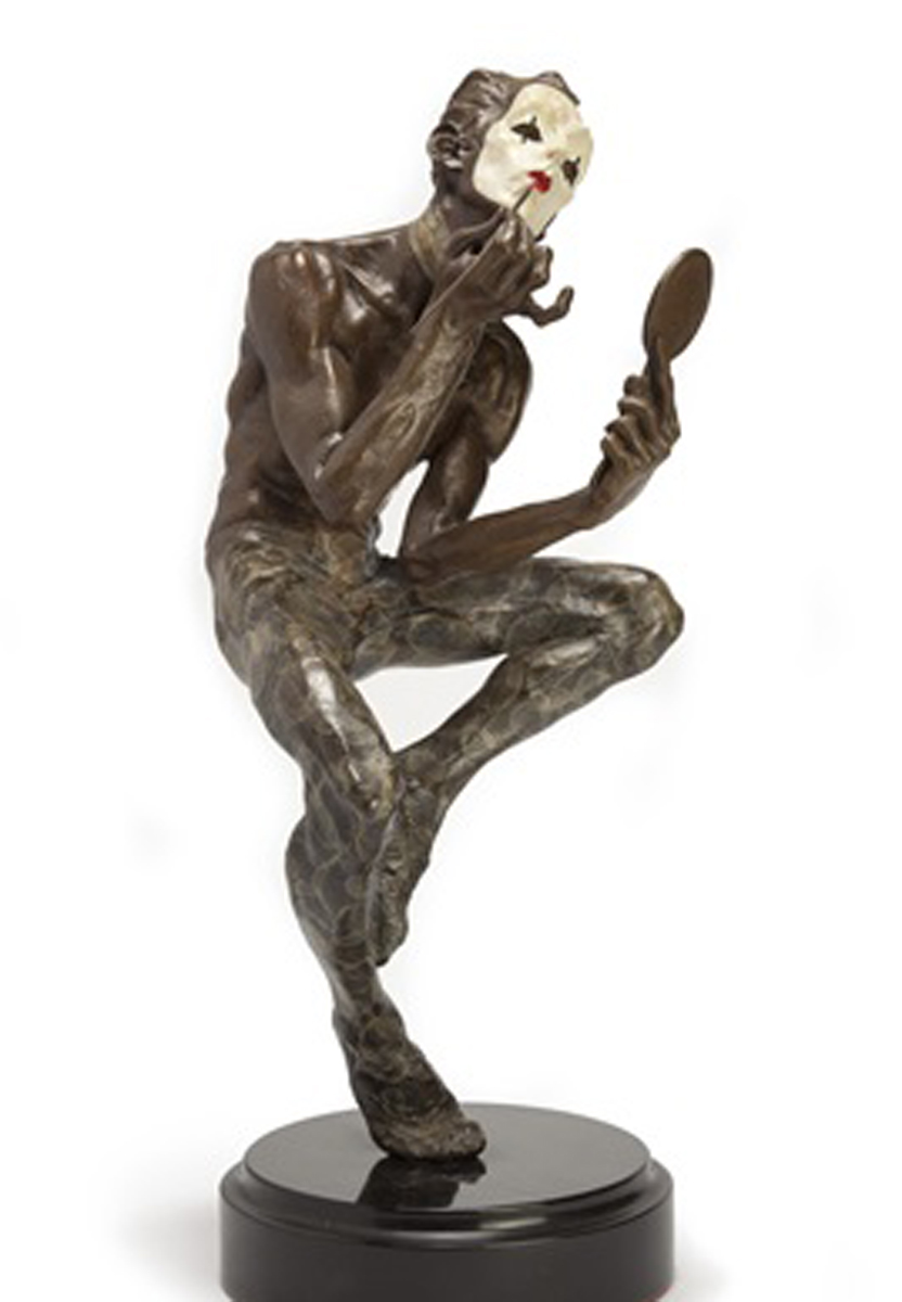 Showtime II Bronze Sculpture 1990 18 in