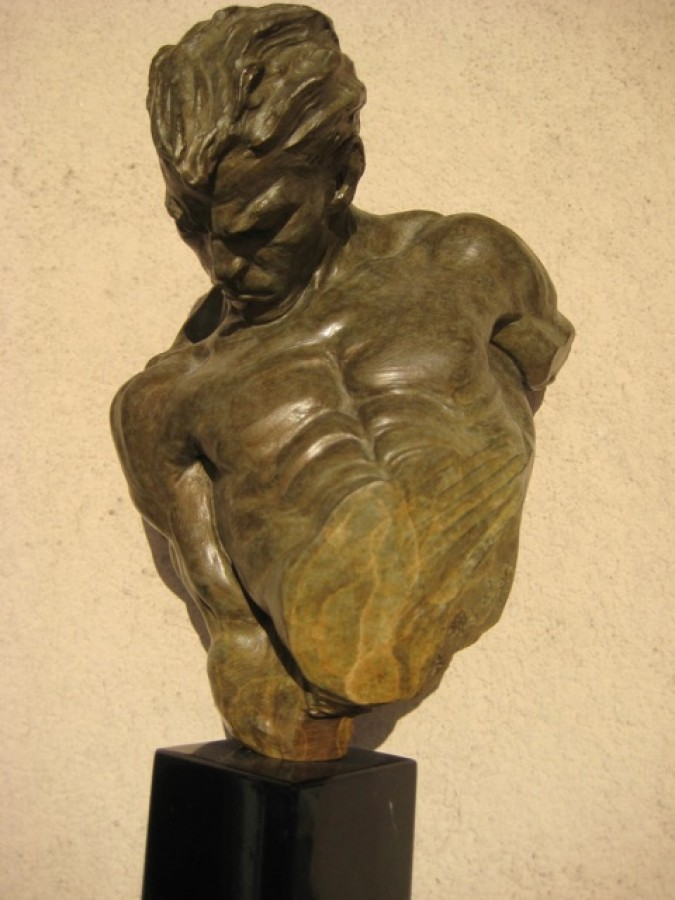 Gymnast Bronze Bust Sculpture 1995