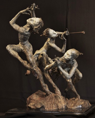 Joie De Vivre 1/4 Life Size Bronze Sculpture (The Music) 1996 22 in