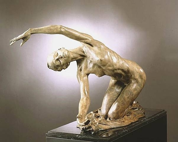 Dawn, The Awakening Bronze Sculpture 24 in