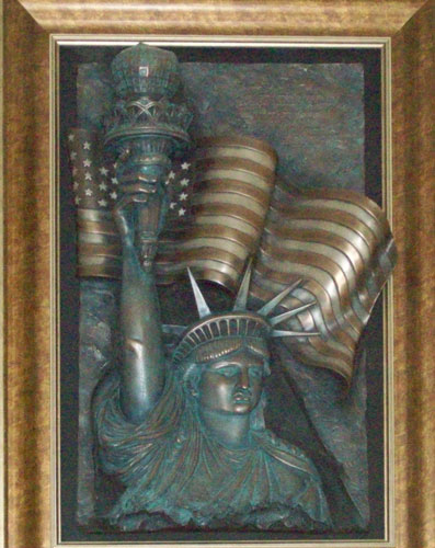America Bonded Bronze Sculpture with color