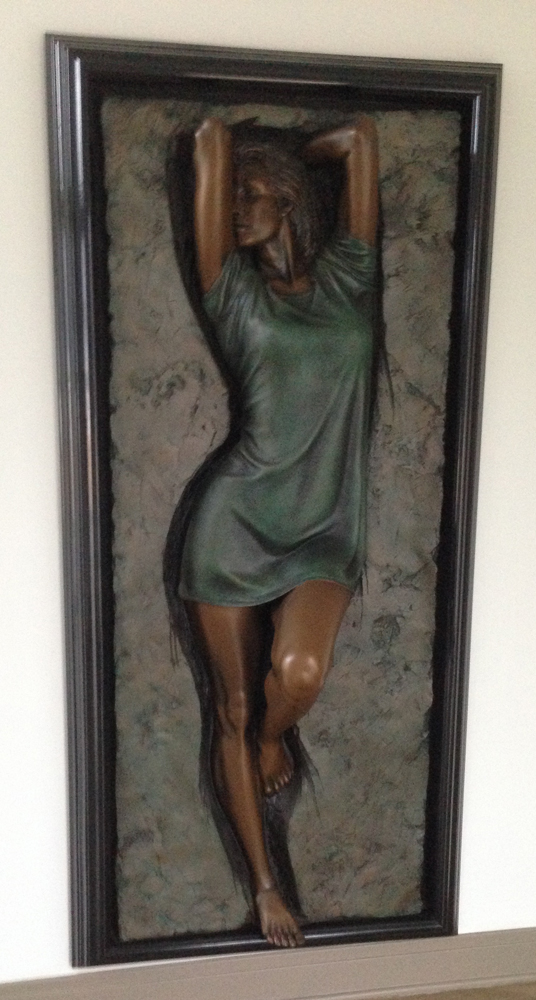 Charisma Adorned Bronze Sculpture 1995 72 in