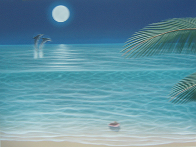 Moonlit Palms 2002  48x36