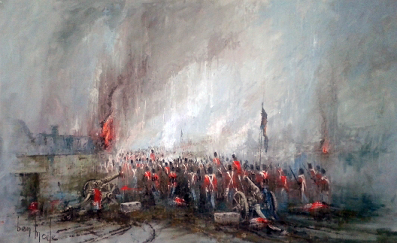 Rain, Mud And Flames of Waterloo 1975 55x37