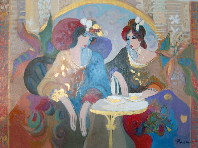 Ladies At Tea 1997 30x40