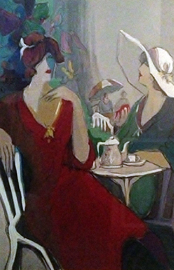 Two Women At Cafe