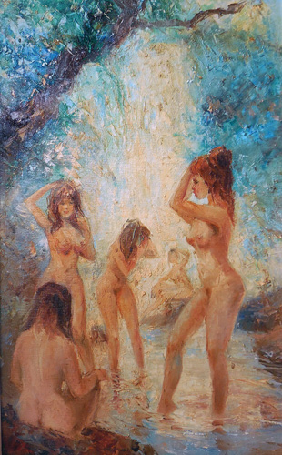 Bathing Nudes 46x26