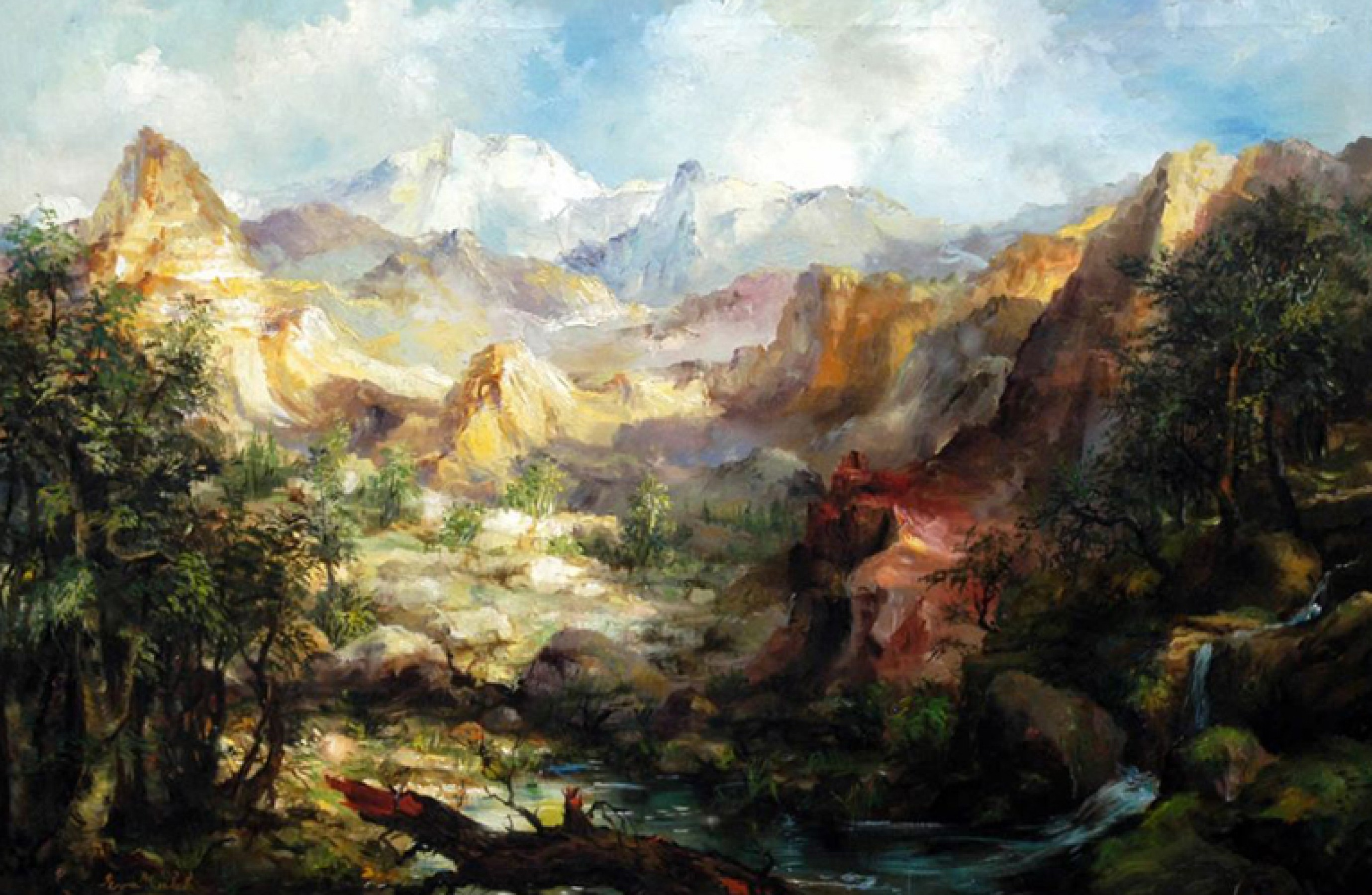 Mountain Landscape 34x46
