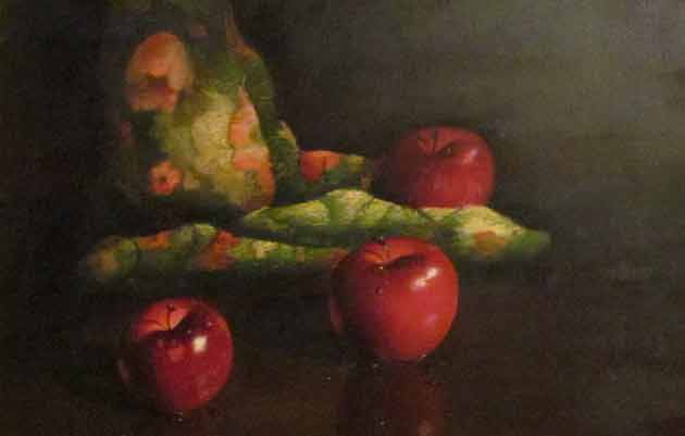 Apples And Textile 34x40