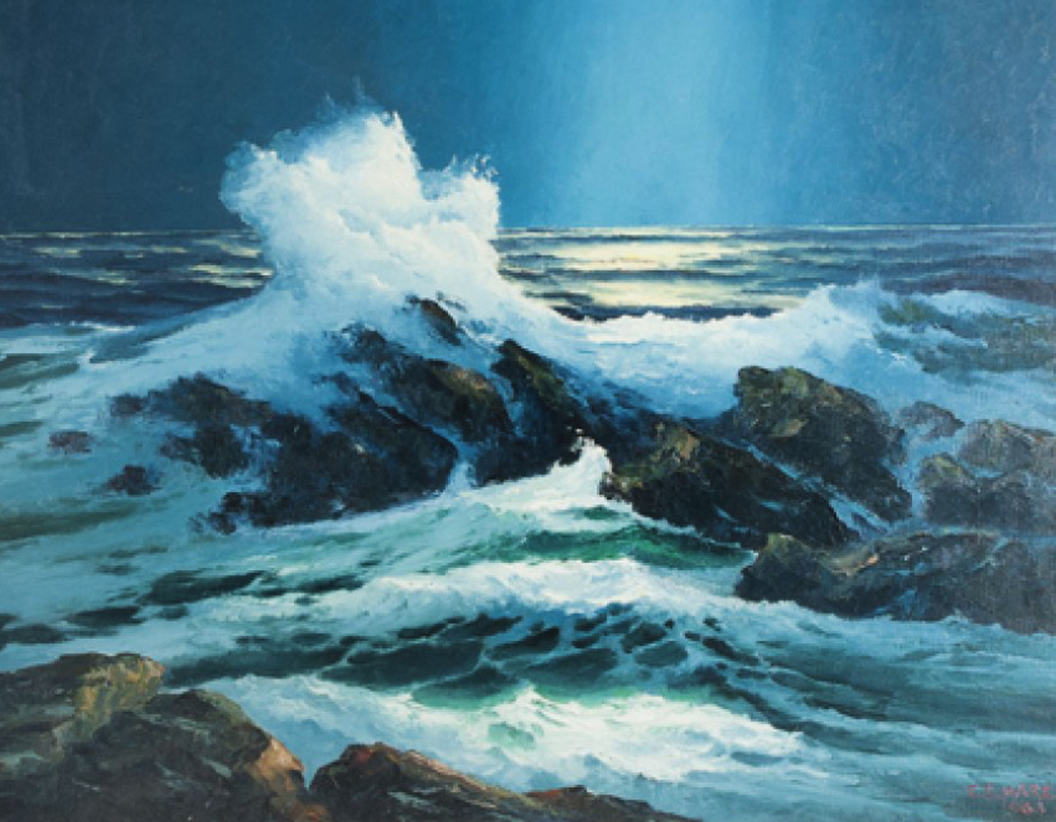 Moonlight South of Kona Hawaii 1963 32x40