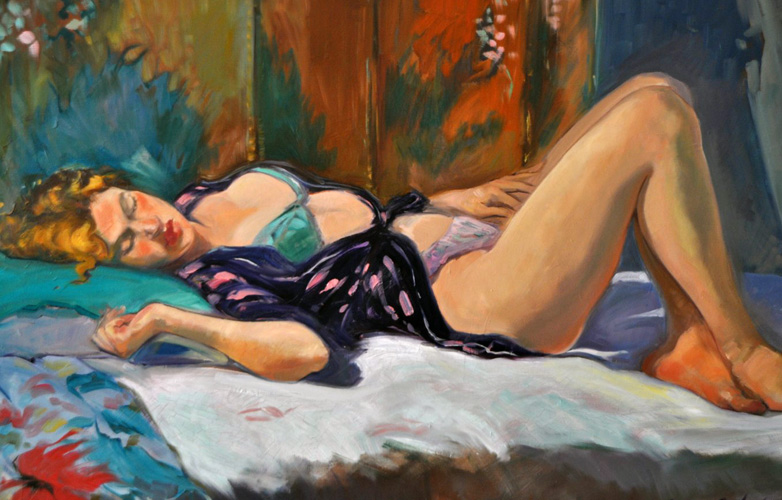 Woman Lounging 1997 44x34