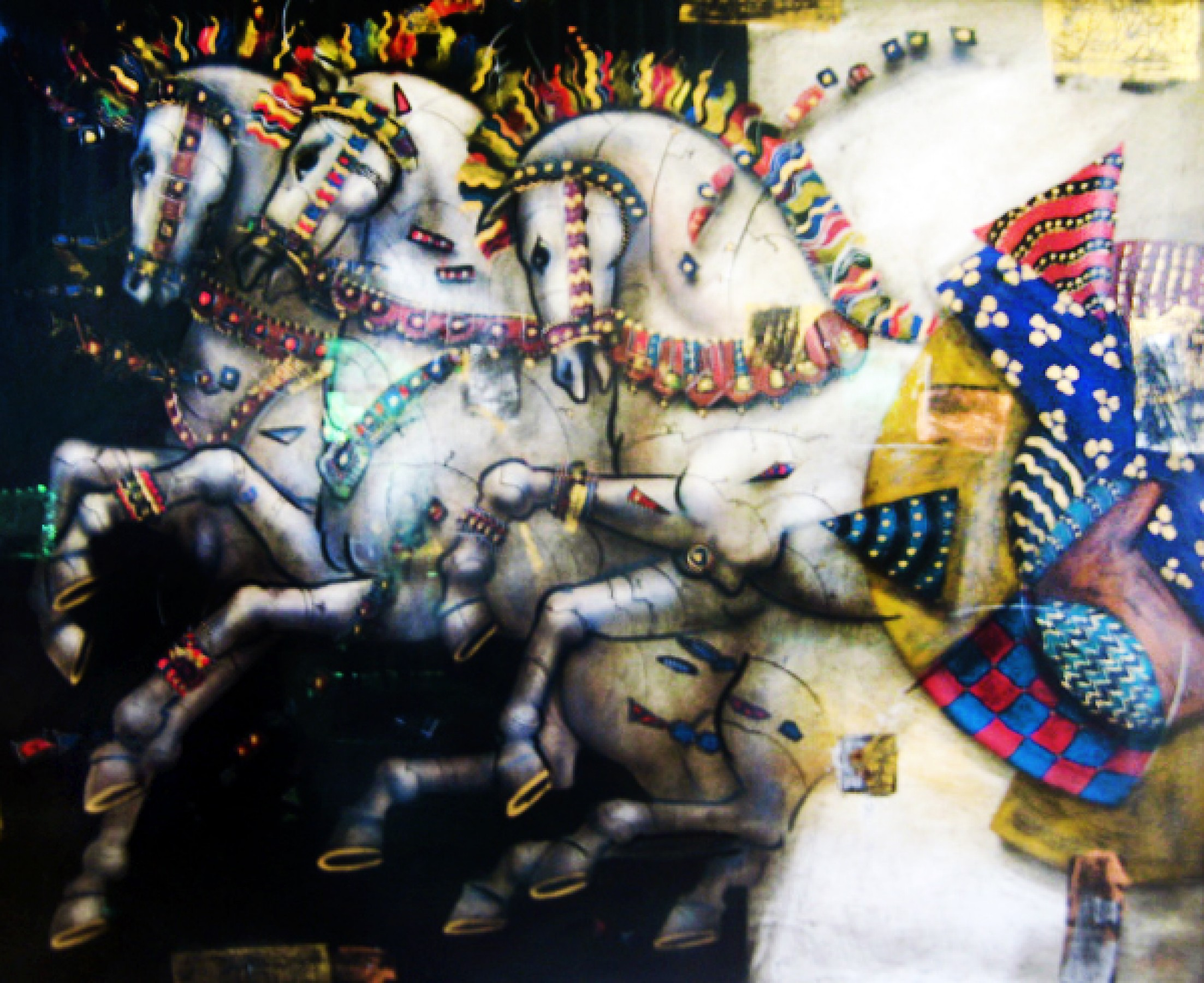 Untitled Painting (Horses) 1999 46x36